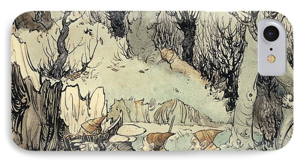 Elves In A Wood IPhone Case by Arthur Rackham