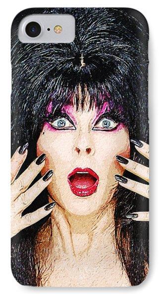 Elvira - Mistress Of The Dark IPhone Case by Taylan Apukovska