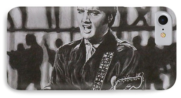 Elvis - 68 Comeback Phone Case by Mike OConnell