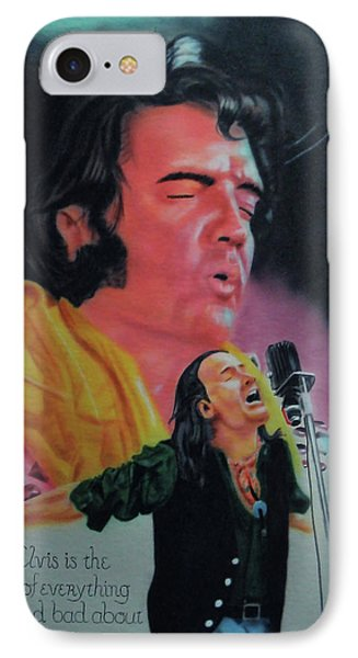 Elvis And Jon IPhone Case by Thomas J Herring