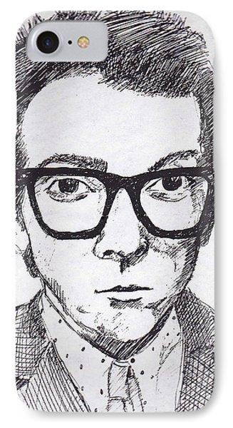 Elvis Costello IPhone Case by John Keaton