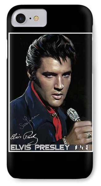 Elvis Presley ' 68 Come Back Special IPhone Case by Emre Yaprak