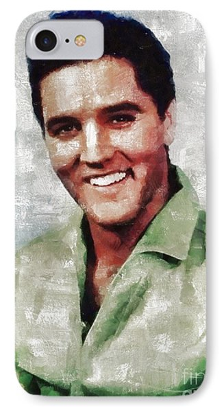 Elvis Presley By Mary Bassett IPhone Case