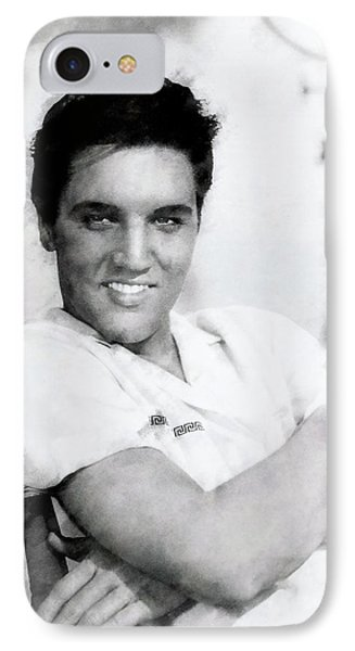 Elvis Presley Charcoal IPhone Case