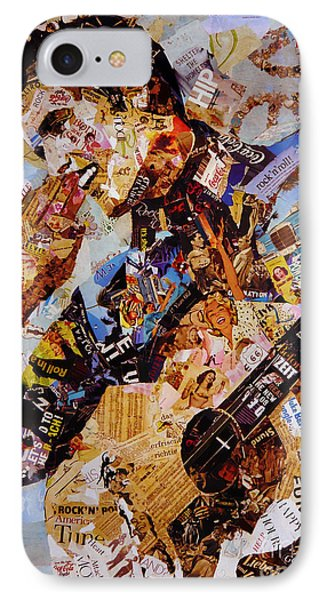Elvis Presley Collage Art  IPhone Case by Gull G