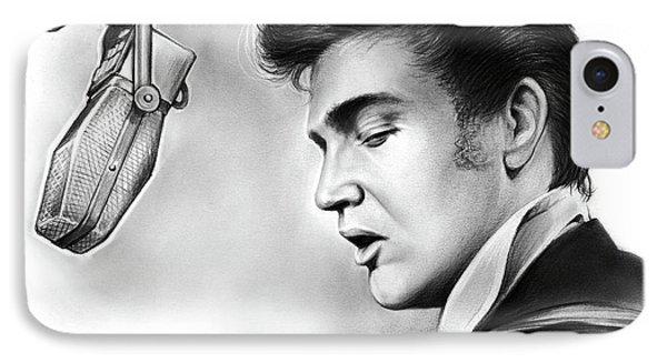 Elvis Presley IPhone 7 Case by Greg Joens