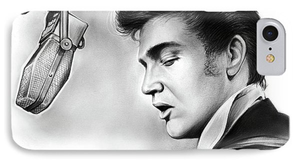 Elvis Presley IPhone Case by Greg Joens