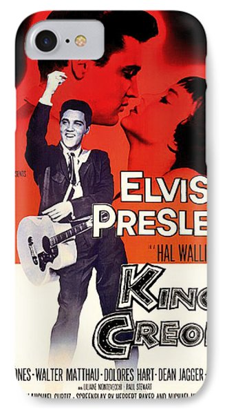 Elvis Presley In King Creole 1958 IPhone Case by Mountain Dreams