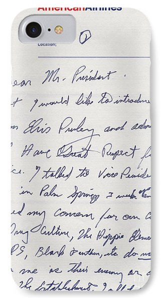 Elvis Presley Letter To President Richard Nixon IPhone Case