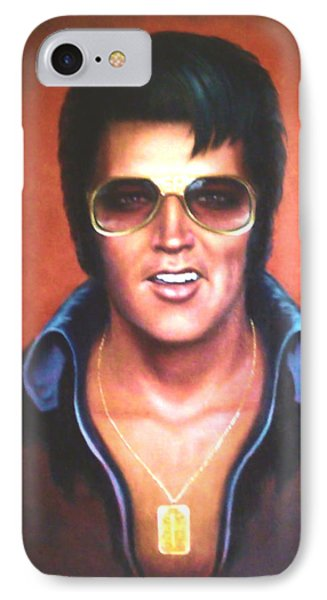 IPhone Case featuring the painting Elvis Presley by Loxi Sibley