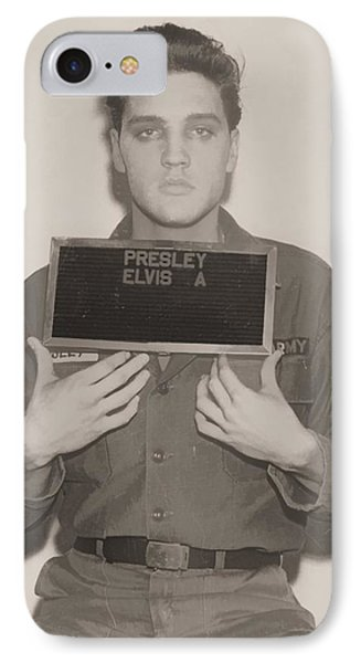 Elvis Presley Mugshot IPhone Case by Dan Sproul