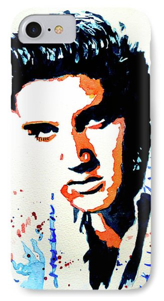 IPhone Case featuring the painting Elvis by Steven Ponsford