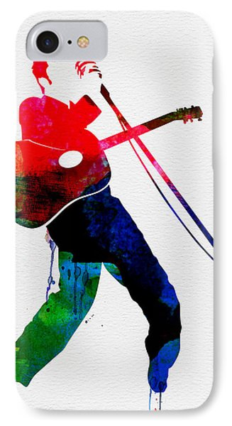 Elvis Watercolor IPhone 7 Case by Naxart Studio