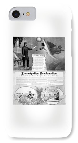 Abraham Lincoln iPhone 7 Case - Emancipation Proclamation by War Is Hell Store