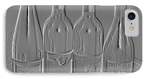 Embossed Wine Bottles IPhone Case by Donna Bentley