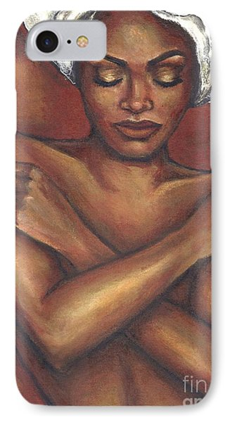 IPhone Case featuring the painting Embrace Yourself by Alga Washington