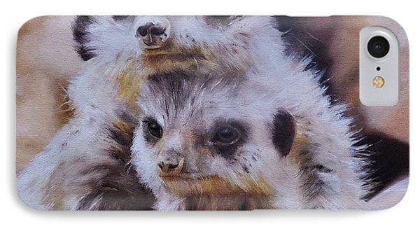 Meerkat iPhone 7 Case - Embraced by Cherise Foster