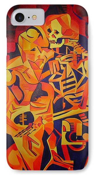 Embracing Death IPhone Case by Tracey Harrington-Simpson