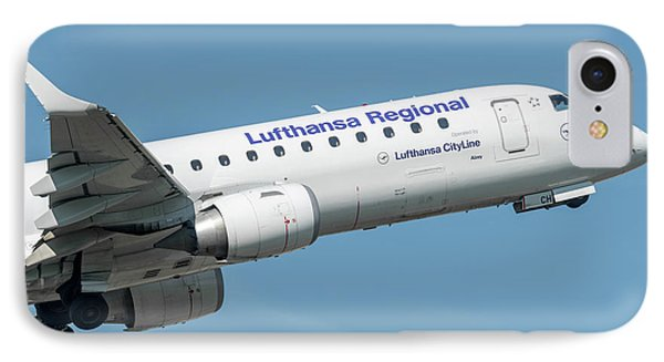Embraer E190 Wing And Nose IPhone Case by Roberto Chiartano