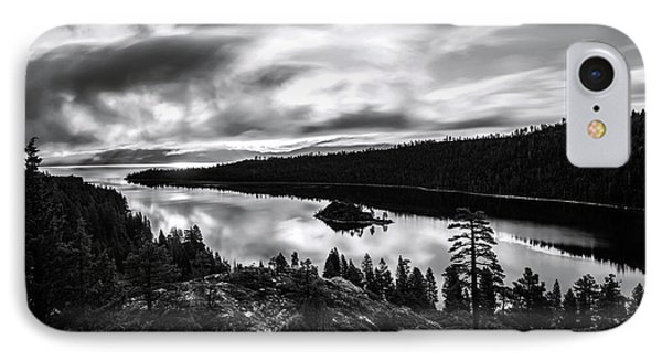 Emerald Bay Black And White IPhone Case by Brad Scott