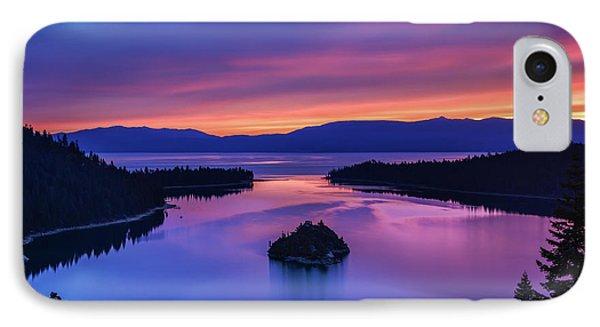 Emerald Bay Clouds At Sunrise IPhone Case by Marc Crumpler