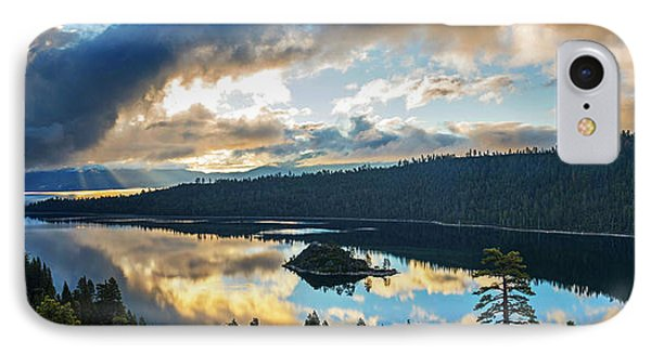 Emerald Bay Sunrise Rays IPhone Case by Brad Scott