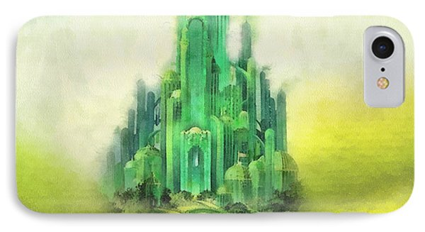 Wizard iPhone 7 Case - Emerald City by Mo T