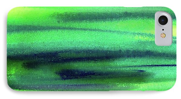 Emerald Flow Abstract Painting IPhone Case
