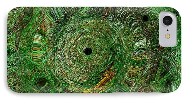 IPhone Case featuring the photograph Emerald Swirls by Kathie Chicoine