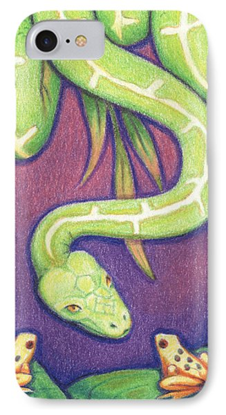 Emerald Tree Boa Phone Case by Amy S Turner