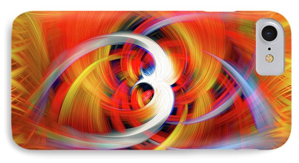 Emerging Light From A Colorful Vortex IPhone Case