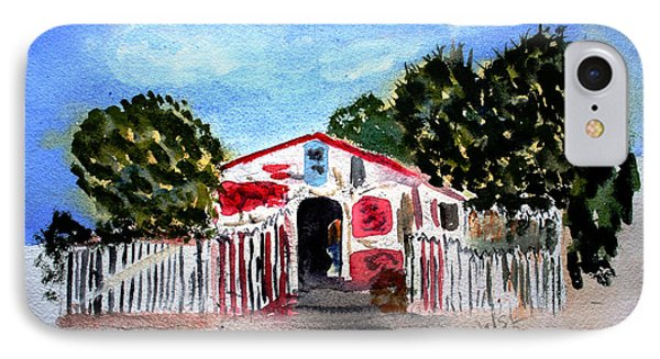 IPhone Case featuring the painting Emiles Road Side Grocer by Donna Walsh
