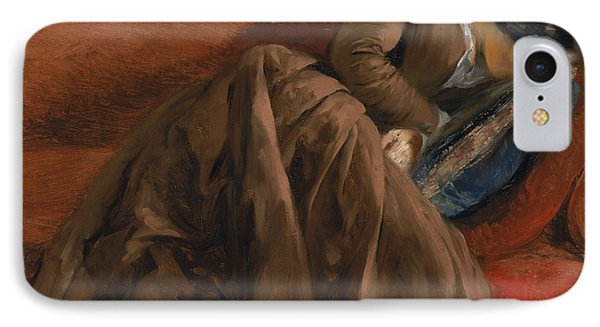 Emilie The Artist's Sister Asleep IPhone Case by Adolph Friedrich Erdmann von Menzel