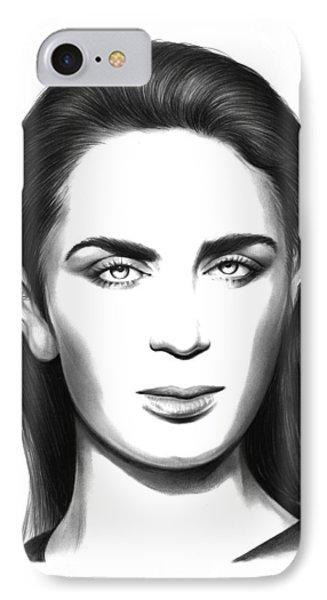 Emily Blunt IPhone Case by Greg Joens