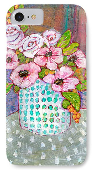 Emily Roses Flowers IPhone Case by Blenda Studio