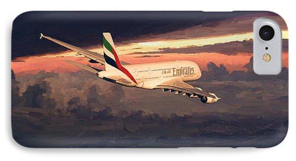 Emirates Airbus A380 Above Dubai IPhone Case