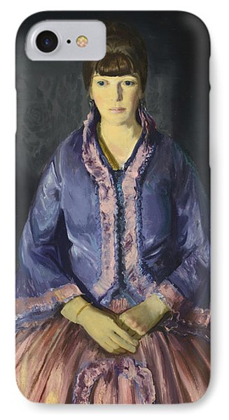 Emma In The Purple Dress IPhone Case