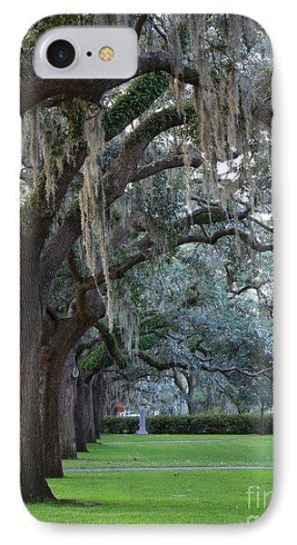 Emmet Park In Savannah IPhone Case by Carol Groenen