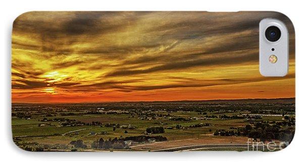 Emmett Valley Sunset IPhone Case by Robert Bales