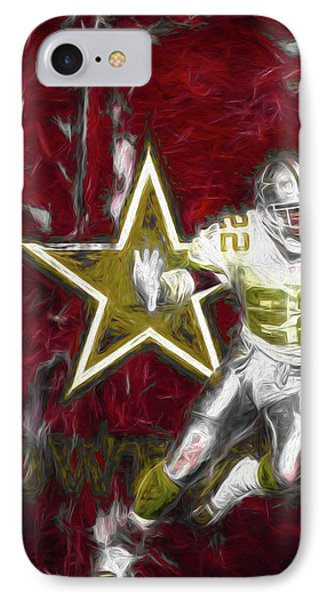 IPhone Case featuring the photograph Emmitt Smith Nfl Dallas Cowboys Gold Digital Painting 22 by David Haskett