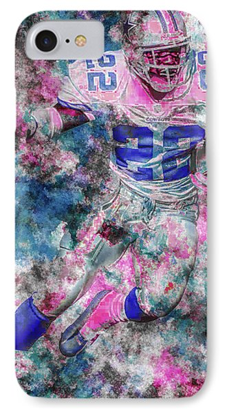 IPhone Case featuring the photograph Emmitt Smith Nfl Football Painting Digital  Es22 One by David Haskett