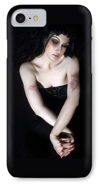 Emotionally Bruised - Self Portrait IPhone Case by Jaeda DeWalt