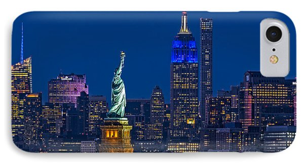 IPhone Case featuring the photograph Empire State And Statue Of Liberty II by Susan Candelario