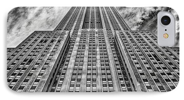 Empire State Building Black And White Phone Case by John Farnan