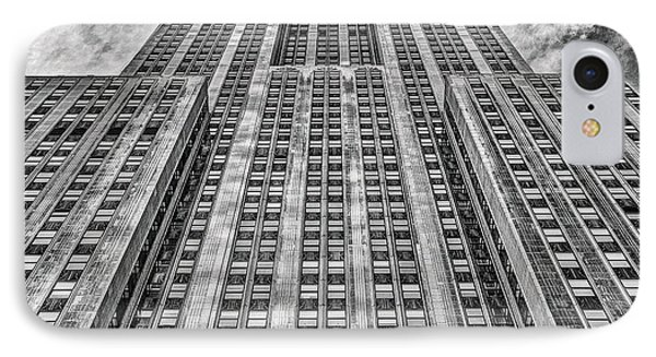 Empire State Building Black And White Square Format Phone Case by John Farnan