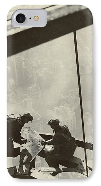 Empire State Building IPhone Case by Lewis Wickes Hine