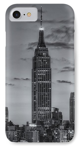 Empire State Building Morning Twilight Iv IPhone Case by Clarence Holmes