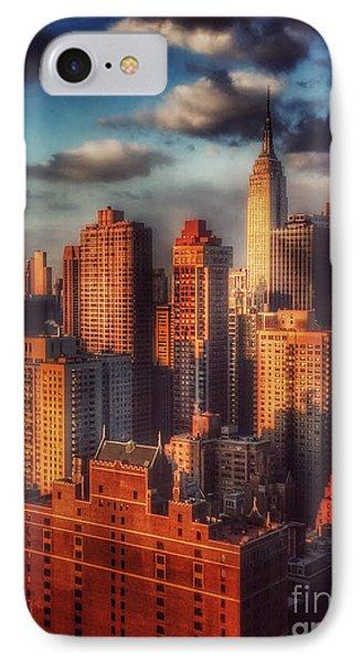 Empire State In Gold IPhone Case by Miriam Danar