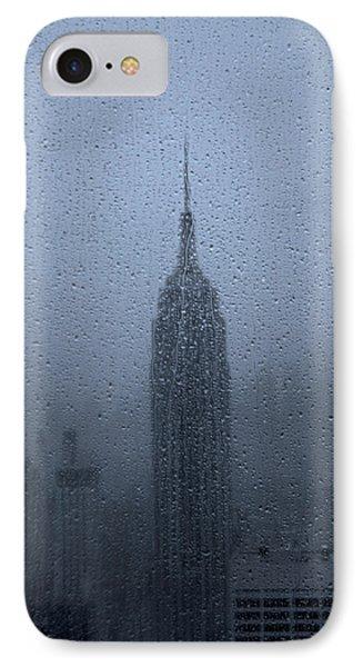 Empire State In The Rain IPhone Case