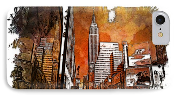 Empire State Reflections Earthy Rainbow 3 Dimensional IPhone Case by Di Designs
